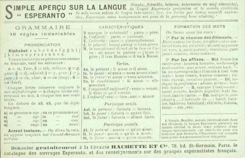 grammaire esperanto