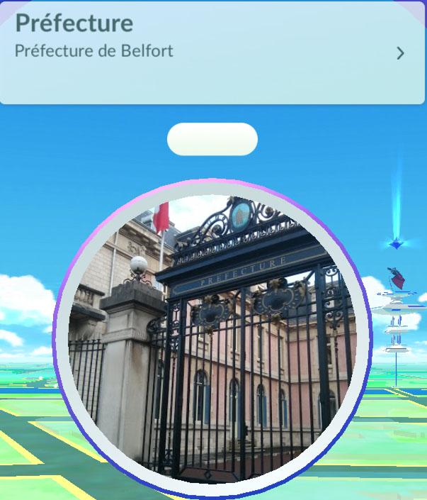 pokemon go  pokéstope à Belfort