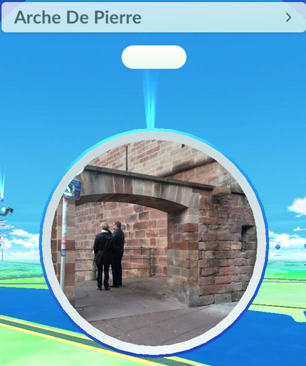 pokemon go  pokéstope  à Strasbourg
